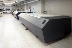 Printing plant - Flexographic printing plates. Printing Plant - Machine for exposing flexographic printing plates with UV-A LEDs royalty free stock photography