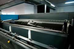 Printing plant - Offset press machine Royalty Free Stock Photo