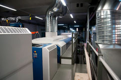 Printing plant - Offset press machine Stock Photo