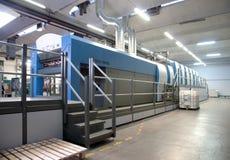 Printing plant - Offset press machine Royalty Free Stock Photo