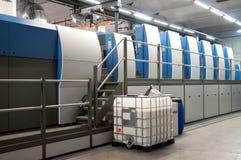 Printing plant - Offset press machine Royalty Free Stock Photography