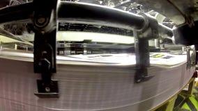 Printing plant sheet fed machine stock video footage