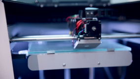 Printing with Plastic on 3D Printer.