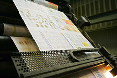 Printing press. During work - Press of the newspaper Royalty Free Stock Photography