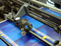 Printing press. At printing house royalty free stock photo