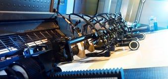 Printing press. Close detail of printing press Royalty Free Stock Images