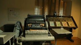 Printing press room. stock video