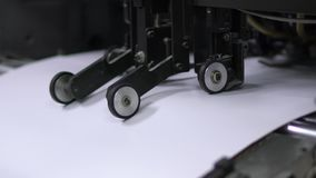 Printing on printing machines. Work printing. Different stages of the process