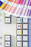 Printing process with color swatches Stock Photo