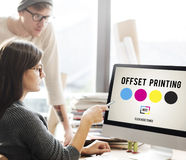 Printing Process Offset Ink Color Industry Media Concept Royalty Free Stock Photos