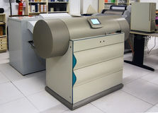 Printing shop - Drum scanner. Drum scanners capture image information with photomultiplier tubes (PMT), rather than the charge-coupled device (CCD) arrays found Royalty Free Stock Images