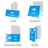 Printing shop services blue icons set. Part 2 Royalty Free Stock Images
