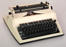 Printing typewriter. Royalty Free Stock Photography