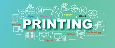 Printing vector trendy banner Royalty Free Stock Photos