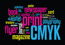 Printing Word Cloud Stock Photos