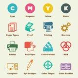 Printingbeståndsdelar vektor illustrationer