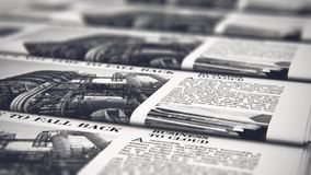 Printingtidningar i typografi stock video