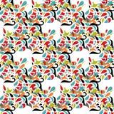Printleaf seamless pattern floral multicolored Stock Image