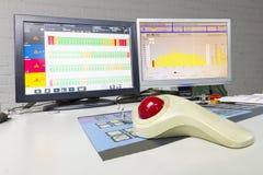Printng prasy koloru zarządzania kontrolna jednostka. Fotografia Royalty Free