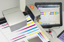 Printng Press color management control unit. Royalty Free Stock Images