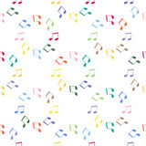 PrintNotes. Seamless pattern background notes. Music notes, treble clef vector Stock Image