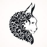 PrintOrnamental decorative cat. Emblem logo tattoo design. Ornamental decorative cat. Emblem logo tattoo design Royalty Free Stock Photography