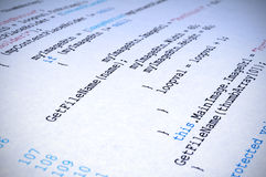 A printout of C# computer program Stock Photography