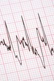 Printout from cardiograph. During exercise royalty free stock image