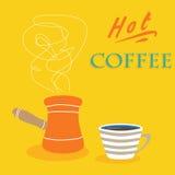 Printretro coffee poster design. Retro hot coffee poster design vector illustration Stock Photo
