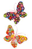 Prints with butterflies Royalty Free Stock Image