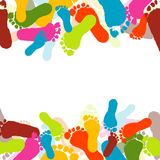 Prints of foots of the child Royalty Free Stock Photography