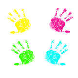 Prints handles baby, illustration. Royalty Free Stock Photography