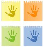 Prints of hands Stock Photo
