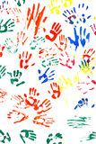 Prints of hands. Of the people on white background royalty free stock image