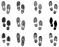 Prints of shoes Royalty Free Stock Photo