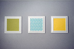Prints on a Wall Royalty Free Stock Images