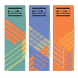 PrintSet av tre färgrika abstrakta vertikala baner vektor illustrationer