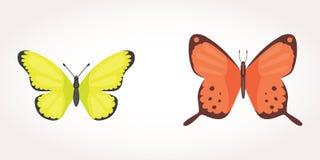 Printset van de kleurrijke Illustratie van het Vlinder Vectorontwerp de zomerinsect royalty-vrije illustratie
