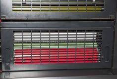 printshop печатания давления детали смещенный Стоковое Изображение RF