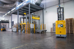 Printshop: Automated warehouse (for paper) Royalty Free Stock Photography