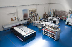 Printshop with cutting plotter Stock Photography