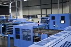 Printshop - Finishing line Stock Photo