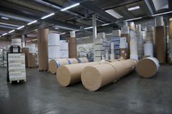 Printshop: paper warehouse Royalty Free Stock Image
