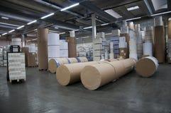 Printshop: paper warehouse Royalty Free Stock Image