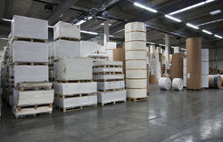 Printshop: paper warehouse Stock Image