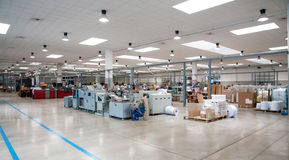 Printshop (planta de impressão) - linha de revestimento Fotografia de Stock
