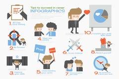 Printsucceed businessman info graphics. Succeed businessman  info graphics flat design Stock Photography