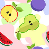PrintTasty fruit pattern in line Royalty Free Stock Images