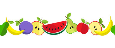 PrintTasty fruit pattern in line. Tasty fruit pattern for your design. Background of fruit on a colorful background Royalty Free Stock Image