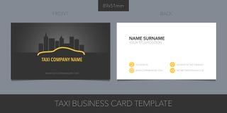 PrintTaxi, disposição de cartão do vetor do táxi Informações de contato e logotipo do molde ilustração royalty free